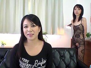 Saya Fujimoto brunette bitch wants to fuck hard
