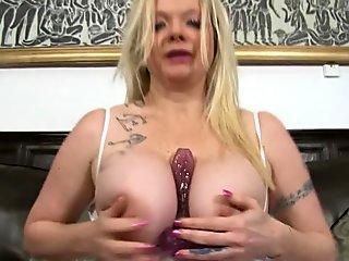 Summer Lee Dildo Fucks Big Tits And Wet Cunt