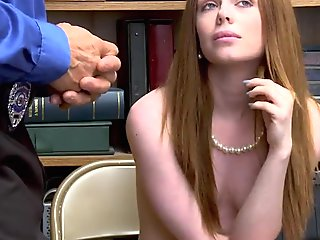 The LP Officer hardcore fuck Ella Hughes tight pussy from behind!