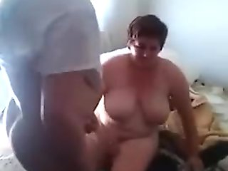 Mature Croatian woman fucked by her neighbour while her husband watches