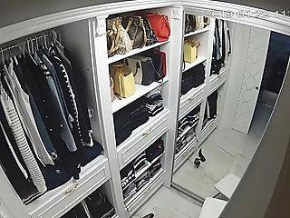 wife in wardrobe
