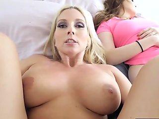 Horny MILF stepmom have a sneaky sex with her stepson