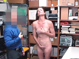 Sofie Marie's pussy licked by the officer