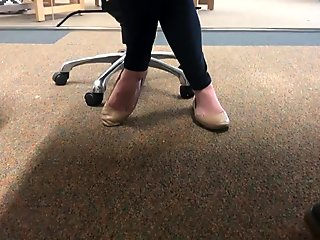 Buisness teacher nude flat dangle pt 2
