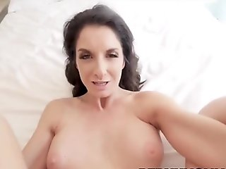 Horny milf gets fingered and pov sucks and rides dick