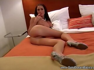 Exotic Romanian MILF Solo On Bed
