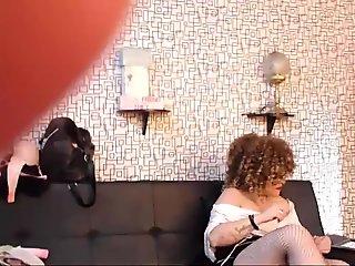 Mature British lesbian licks blonde in stockings