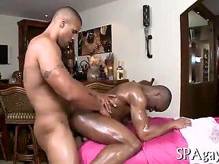 Straight males homo massage