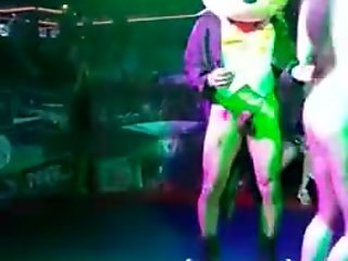 Performing on stage and started sex