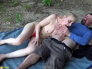 outdoor sex with stepmom