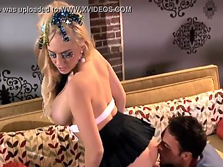 Luxurious busty woman has pleasure with her gracious boyfriend
