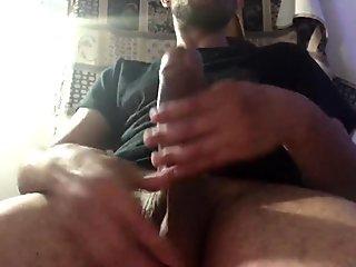 Stroking , edging , my Big Cock